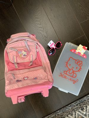 Hello Kitty roller backpack & pink sunglasses for Sale in Chula Vista, CA