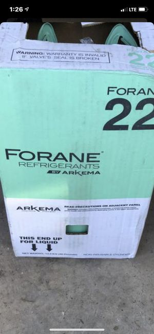 R22 Freon brand new sealed for Sale in Gilbert, AZ