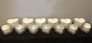 German lead Crystal Heart Dishes. Set of 12 for Sale in Valley Stream, NY