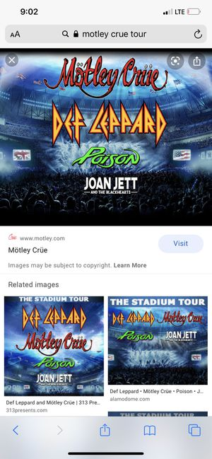 Motley Crue tickets for Sale in Elizabethtown, PA