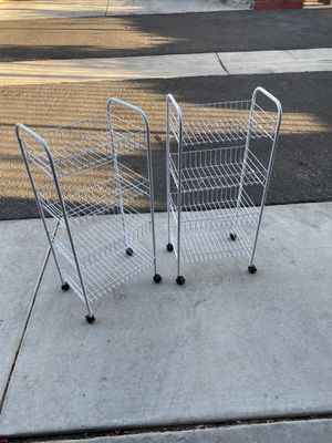 2 pantry cart with rolling wheels for Sale in Riverside, CA