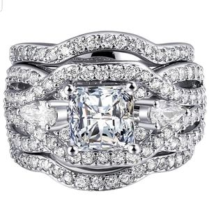 ❤SALE❤❤3pcs 18K White Gold Plated Lab Diamond Wedding Ring Set Size 7,8,9 for Sale in Aspen Hill, MD
