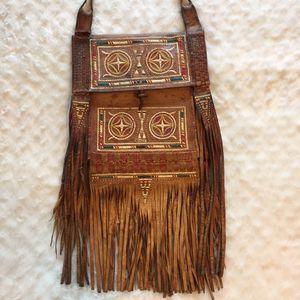 Vintage Leather Fringe Crossbody Messenger Bag for Sale in Largo, FL