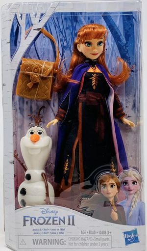 Disney Frozen 2 Anna Doll With Buildable Olaf Figure and Backpack Accessory NEW for Sale in Las Vegas, NV