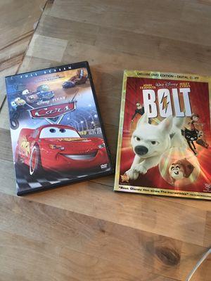 Disney cars & bolt dvd for Sale in Oakley, CA