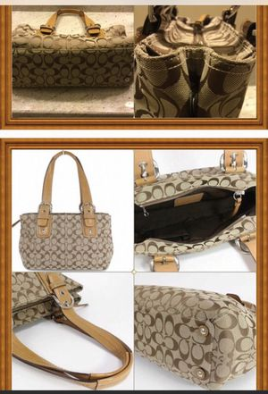 """AUTH COACH SOHO Signature Expandable Tote """"NWOT"""" for Sale in Sterling, VA"""