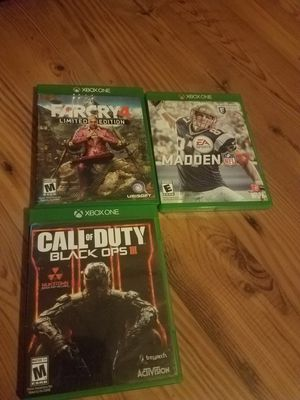 Xbox one game lot for Sale in North Tonawanda, NY