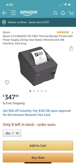 Thermal receipt printer for Sale in Anaheim, CA