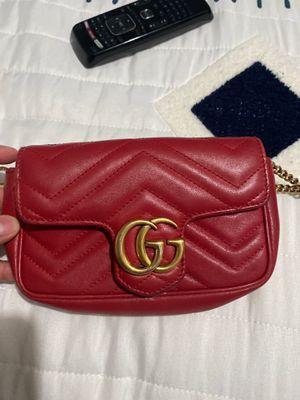 Red Gucci GG marmont super mini bag for Sale in Downey, CA