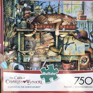 NEW!!! 750 Piece Puzzle Cats of Charles Wysocki REMINGTON THE HORTICULTURIST for Sale in Torrance, CA