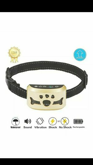 Dog shock collar rechargeable water resistant adjustable straps 7 level settings for Sale in Ontario, CA