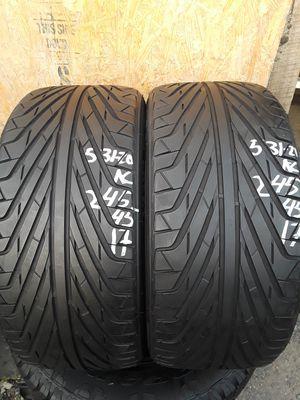 245/45-17 #2 tires for Sale in Alexandria, VA