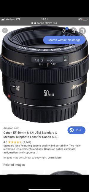Canon 50mm 1.4 for Sale in Tempe, AZ