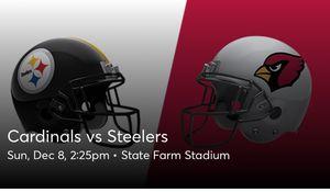 Cardinals vs Steelers, 12/8, aisle seats, 4 tickets for Sale in Litchfield Park, AZ