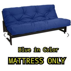 """Classic Brand 8in FUTON MATTRESS FULL """"BLUE IN COLOR"""" for Sale in Groveport,  OH"""