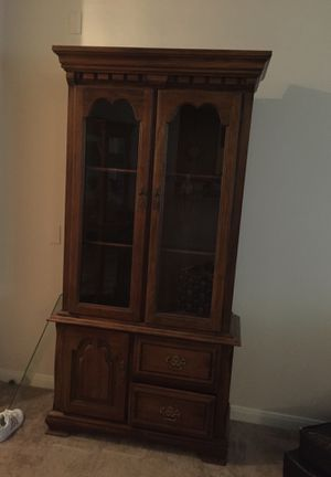 China cabinet with light for Sale in Austin, TX