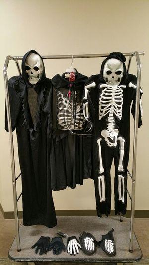 Multiple HALLOWEEN items (2 costumes size small, small lighted pumpkin, vampire sign, non-edible treats, pumpkin decor); packaged treats + dec. for Sale in Arlington, VA