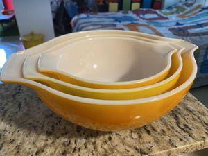 Vintage Pyrex (partial) Sunflower Cinderella Bowl Set for Sale in Miami, FL