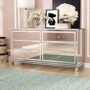 Beautiful Elegant 6 Drawer Mirrored Dresser for Sale in Atlanta, GA