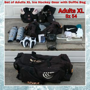 SET OF ADULTS XL / 54 ICE HOCKEY GEAR WITH DUFFLE BAG for Sale in Ontario, CA