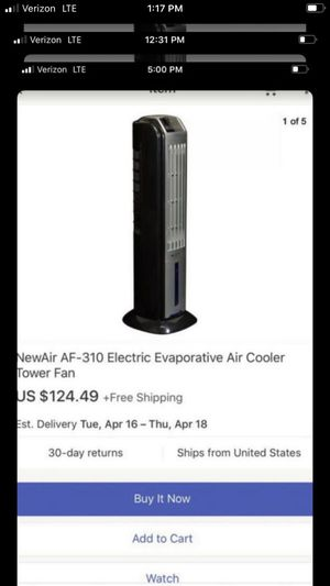 New aire tower fan for Sale in Bakersfield, CA