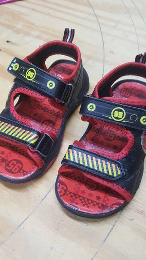 Cars movie themed sandals for boys, light up, size 8 for Sale in Palm Harbor, FL