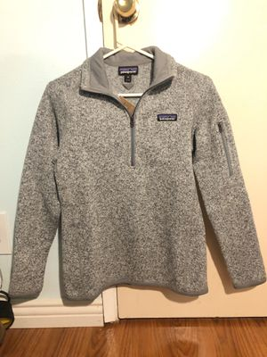 NWT PATAGONIA Women's XS Better Sweater 1/4 zip- Birch White for Sale in Fountain Valley, CA