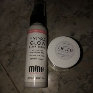 Mine Hydra Glow Sleep Serum & Lifed Eye Cream for Sale in Tolar, TX