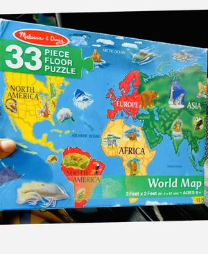 33 piece world map puzzle 3x2 feet for Sale in Oakland, CA