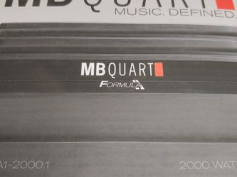 car amplifier : MB QUART 2000 watts Monoblock 1 Ohm Stable Built In crossover With Bass Control 30a×3 fuses for Sale in Commerce,  CA