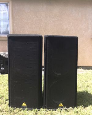2 Behringer DJ Speakers For Sale with Amplifier for Sale in Hayward, CA