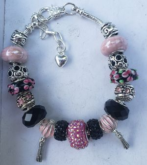 Pink and black charm bracelet 1 for $15 or 2 for $25 for Sale in Baltimore, MD