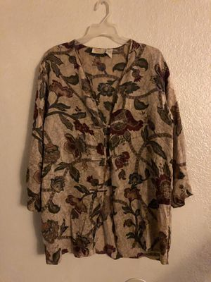 Vintage Floral Print XXL Victoria Secret Blouse for Sale in Fresno, CA