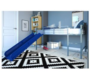 Kids Blue Junior Twin Loft Size with Slide for Boys for Sale in Corona, CA