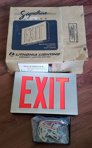 Exit sign Lithonia lighting for Sale in CANAL WNCHSTR, OH