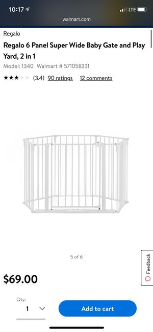 2 Extra large baby gate/play area in one for Sale in Clayton, NC