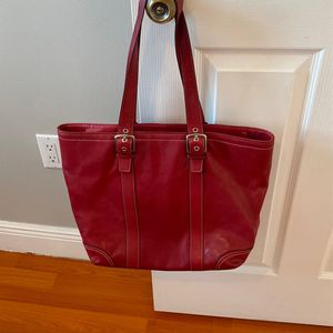 Coach Red Leather Purse for Sale in Miami, FL