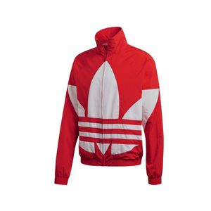 Adidas Big Trefoil Track Jacket red white LARGE for Sale in Alexandria, VA