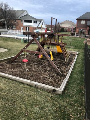 Rainbow castle playset playground best offer takes it! for Sale in Orland Park, IL