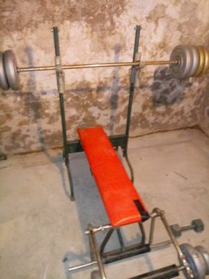 Weight bench & weights for Sale in Reading, PA