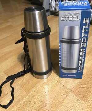 New in box Water tumbler stainless steel vacuum bottle 1 liter carry hiking sports workout gym for Sale in Rosemead, CA