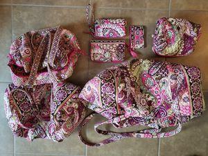 "Vera Bradley ""Pink Paisley"" set, Luggage, purse, accessory bags! for Sale in Cedar Park, TX"