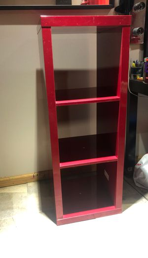 Red shelves 3 cube for Sale in North Haven, CT