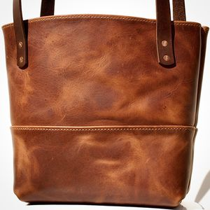 Handmade Leather tote bag, Leather market bag for Sale in San Ysidro, NM