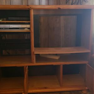 TV Console With 2 Lower Cupboards & Upper Glass Cupboard for Sale in Springerville, AZ