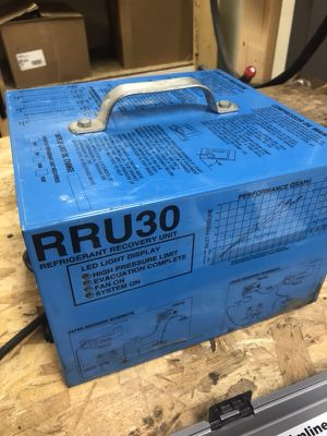 RRU30 refrigerant recovery unit for sale. Best offer to get rid of it. Price is negotiable for Sale in Nanuet, NY