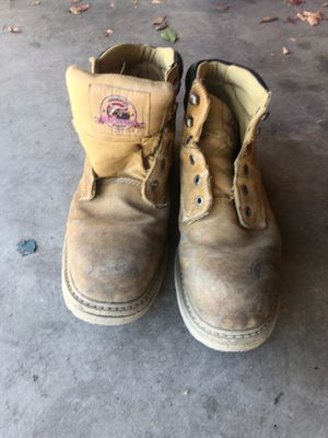 Used steal toed work boots for Sale in Bakersfield, CA