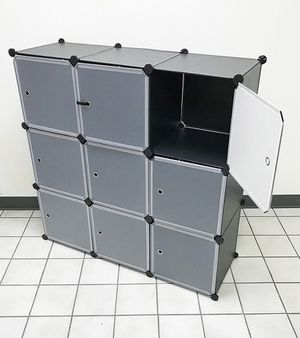 "Brand new $35 Plastic Storage 9-Cube DYI Shelf with Door Clothing Wardobe 43""x14""x43"" for Sale in Montebello, CA"