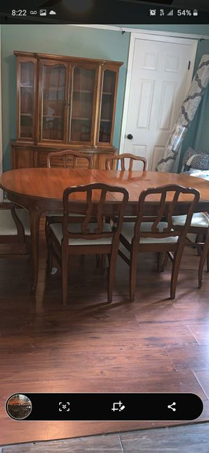 dining table with drawers and display cabinet for Sale in Macon, GA