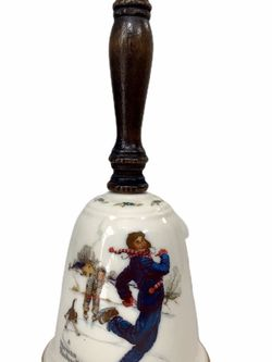 "Vintage Norman Rockwell ""GAY BLADES"" Fine China Christmas Bell by Gorham 1978' for Sale in Longwood,  FL"